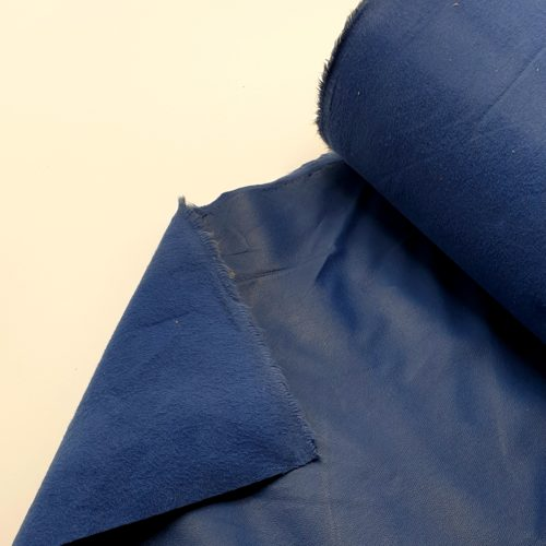 Soepel blauw kunstleer op stof