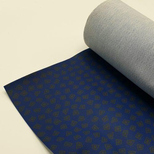 Stamskin kunstleer blokjes blauw / kobalt