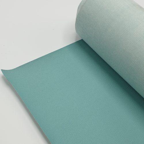 Kunstleer mint / aqua grof