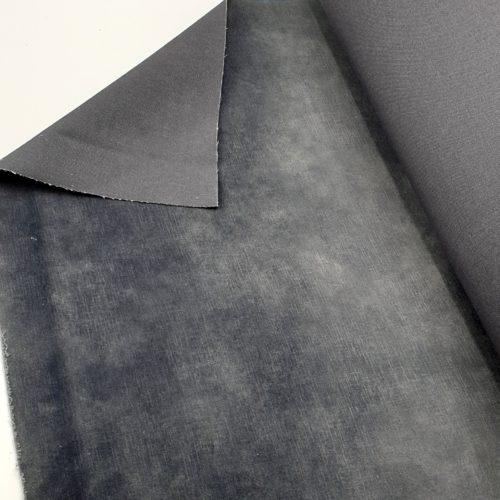 Geschoren Velours Anthracite meubelstof