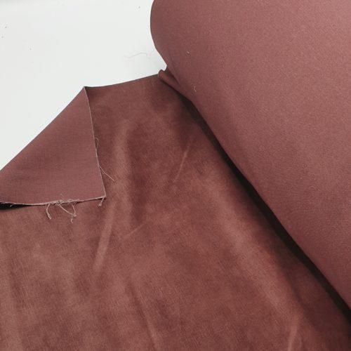 Geschoren Velours Oud Roze meubelstof