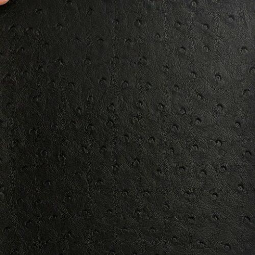 Struisvogelkunstleer zwart
